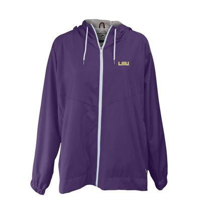LSU Summit Full Zip Hooded Rain Jacket