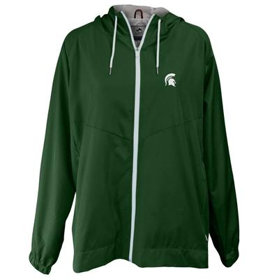 Michigan State Summit Full Zip Hooded Rain Jacket