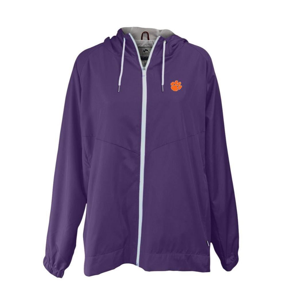Clemson Summit Full Zip Hooded Rain Jacket