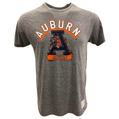 Auburn Retro Brand Leaping Tiger Short Sleeve Tee