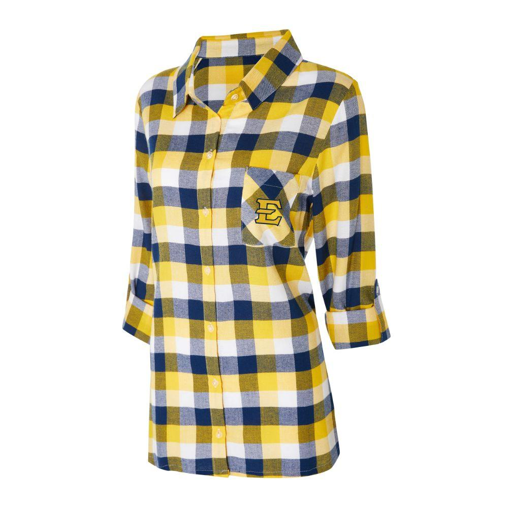 Etsu Women's Long Sleeve Flannel Nightshirt