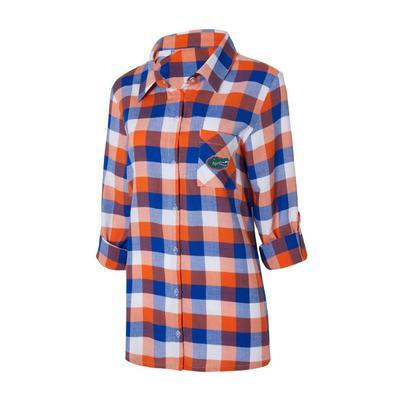 Florida Women's Long Sleeve Flannel Nightshirt