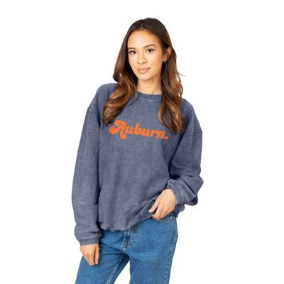 Auburn Chicka-D Women's Vintage Script Corded Sweatshirt
