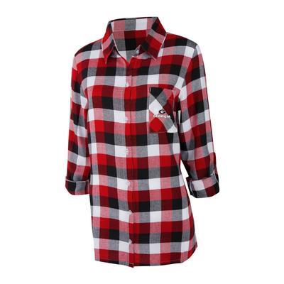 Georgia Women's Long Sleeve Flannel Nightshirt