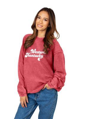 Western Kentucky Chicka-D Women's Vintage Script Corded Sweatshirt