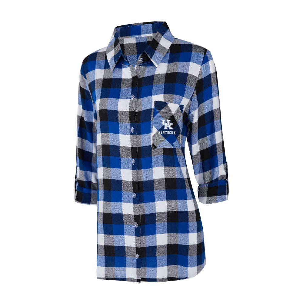 Kentucky Women's Long Sleeve Flannel Nightshirt
