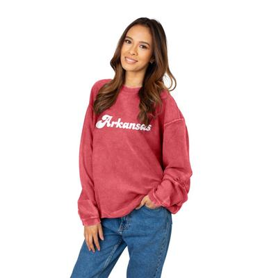 Arkansas Chicka-D Women's Vintage Script Corded Sweatshirt