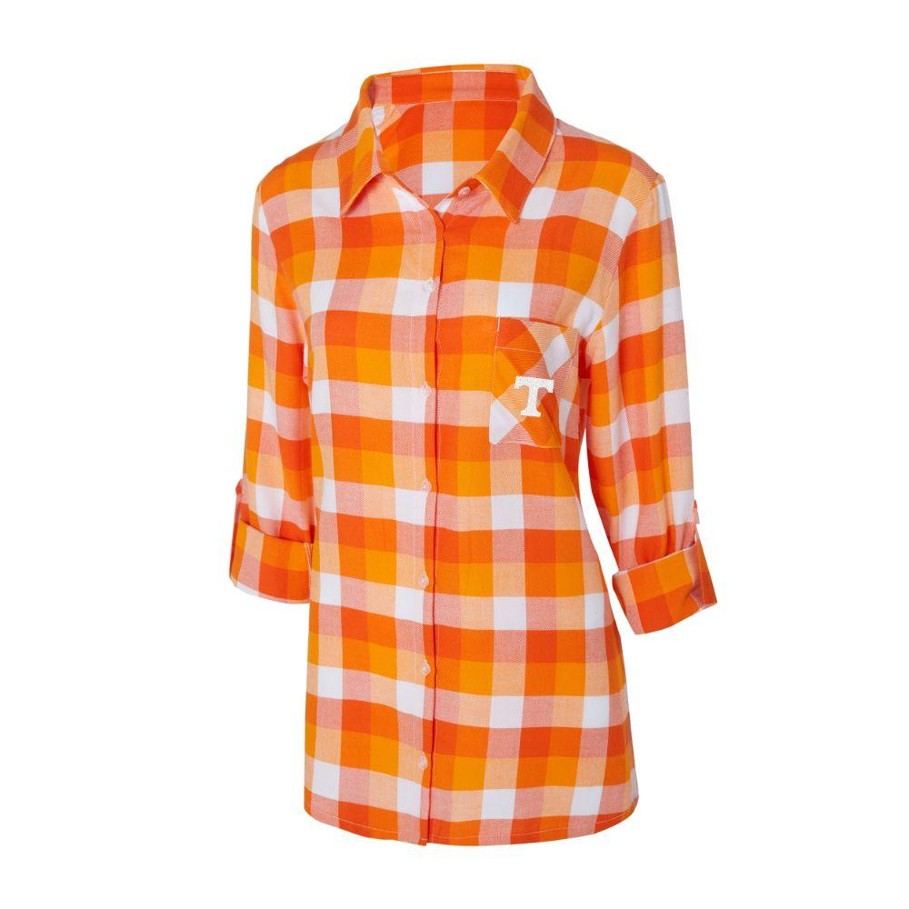 Tennessee Women's Long Sleeve Flannel Nightshirt