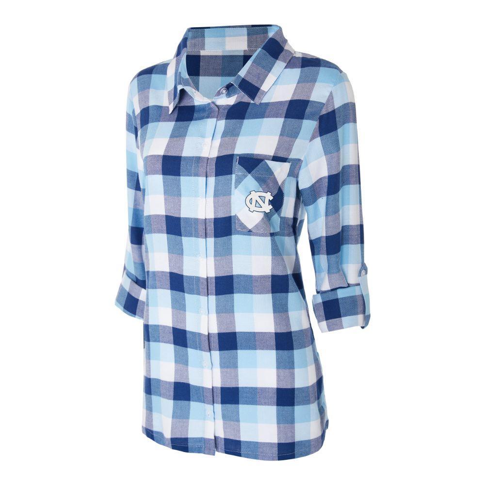 Unc Women's Long Sleeve Flannel Nightshirt
