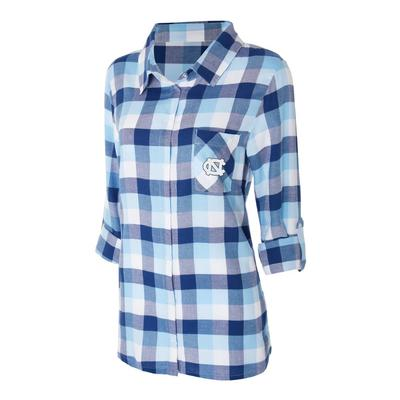 UNC Women's Long Sleeve Flannel Nightshirt