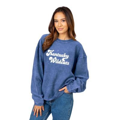 Kentucky Chicka-D Women's Vintage Script Corded Sweatshirt