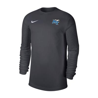 MTSU Nike Men's Coaches UV Long Sleeve Top