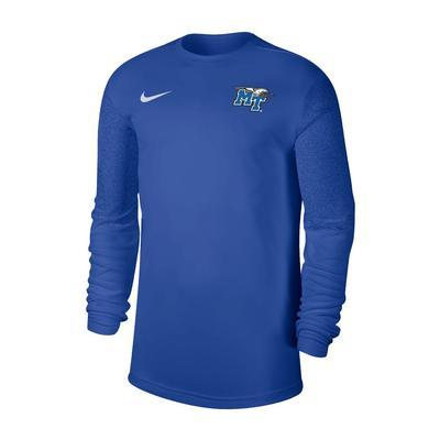 MTSU Nike Men's Coaches UV Long Sleeve Top ROYAL