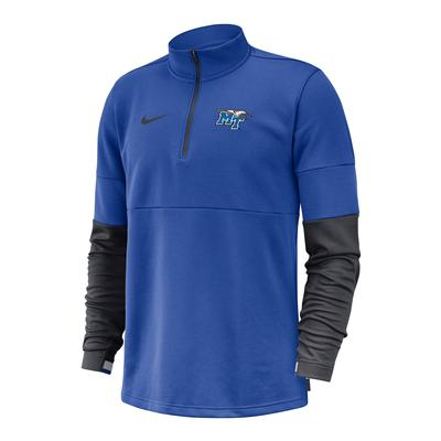 MTSU Nike Men's Coaches Half Zip Pullover