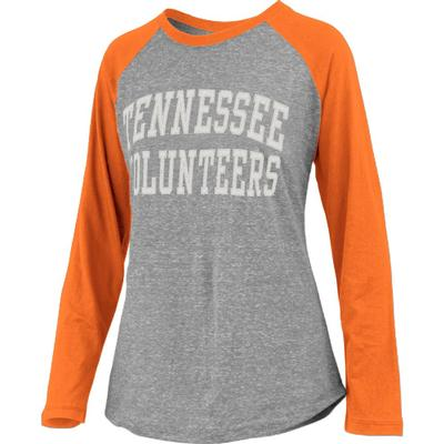Tennessee Pressbox Bentley Applique Long Sleeve Baseball Tee