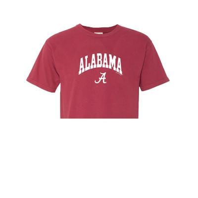 Alabama Women's Cropped Comfort Colors Tee