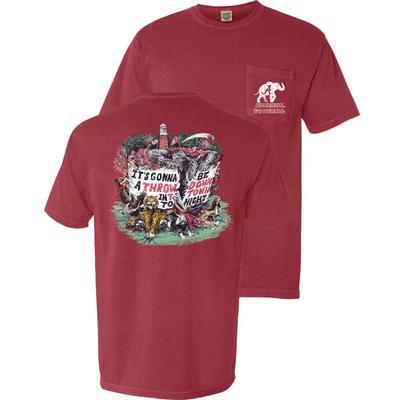 Alabama Mascot Throw Down Comfort Colors Pocket Tee