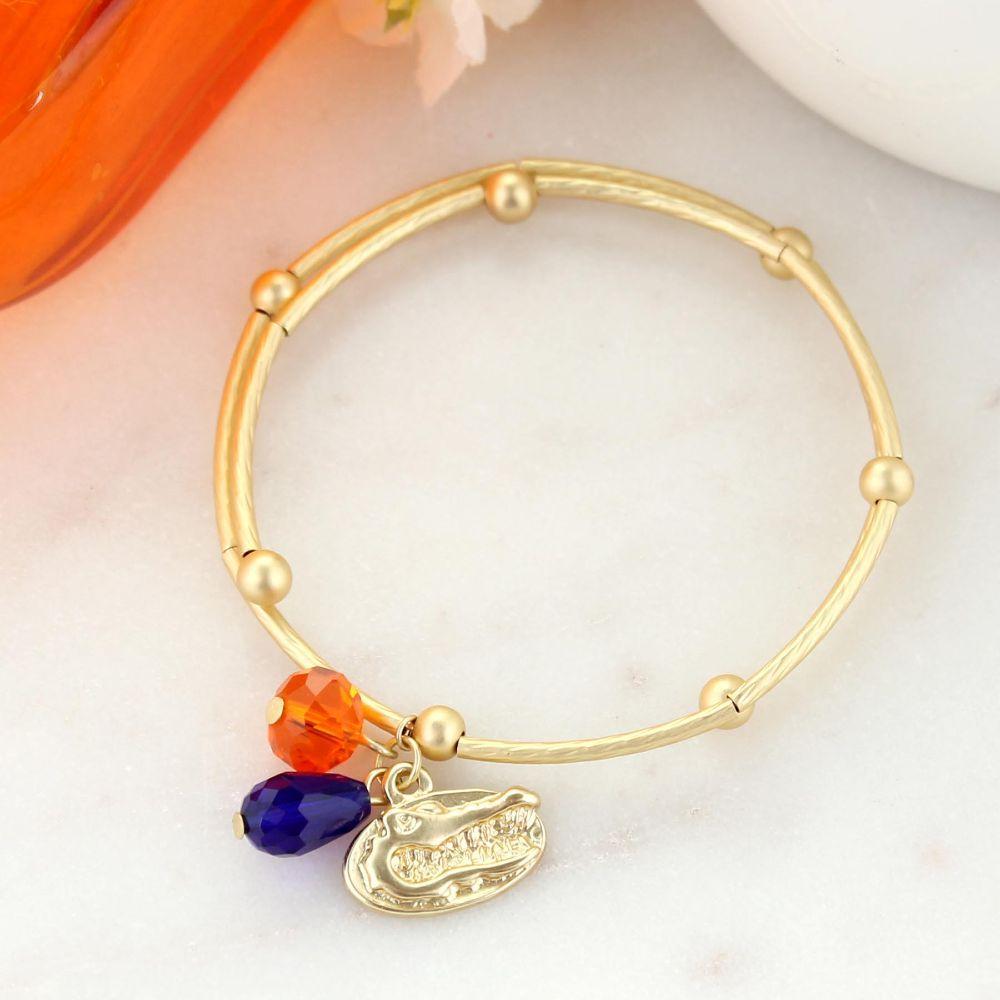 Florida Matte Gold Logo Bracelet