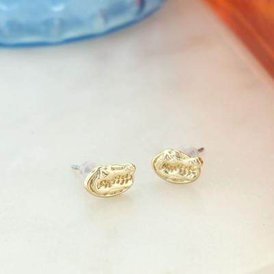 Florida Matte Gold Logo Stud Earrings