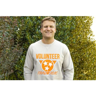 Tennessee Volunteer Traditions Throwback Tri-Star Crewneck