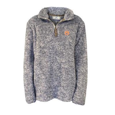 Auburn Summit Flecked Double Plush Pullover