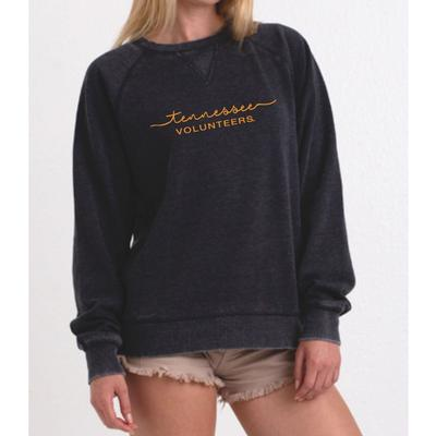 Tennessee Summit Script Burnout Fleece Crew