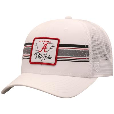 Alabama Top of the World Retro Striped Patch Mesh Hat