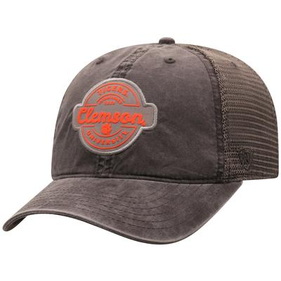 Clemson Top of the World Ominous Patch Trucker Hat