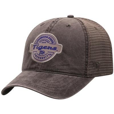 LSU Top of the World Ominous Patch Trucker Hat