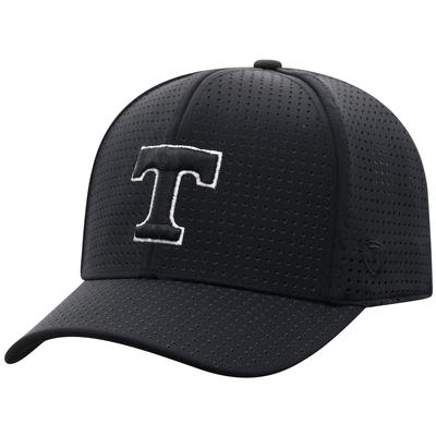 Tennessee Top of the World Black Onefit Vent Mesh Hat