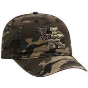 Kentucky Top Of The World Camo Woodland Flag Logo Hat
