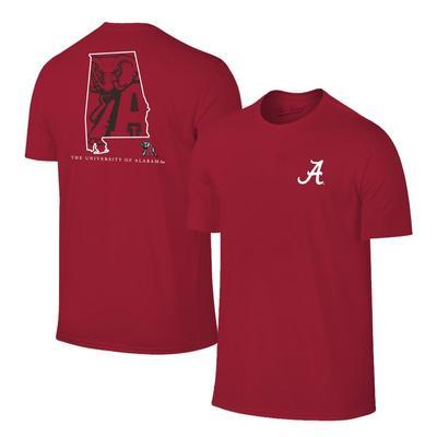 Alabama Crimson Tide State Fill Short Sleeve Tee