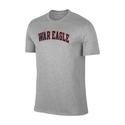 Auburn Tigers War Eagle Arch Short Sleeve Tee GREY