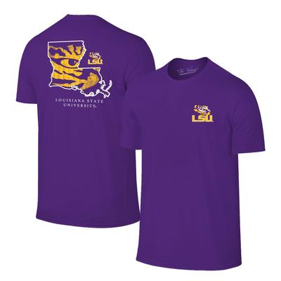 LSU Tigers Mascot Fill Short Sleeve Tee