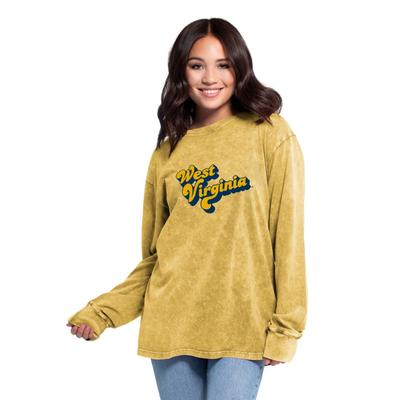 West Virginia Women's Chicka-D Vintage Concert Long Sleeve