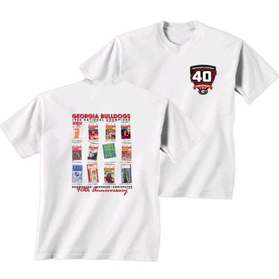 Georgia 1980 National Champions 40th Anniversary Tickets Tee Shirt
