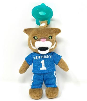 Kentucky Gamezies Plush Mascot Pacifier Holder
