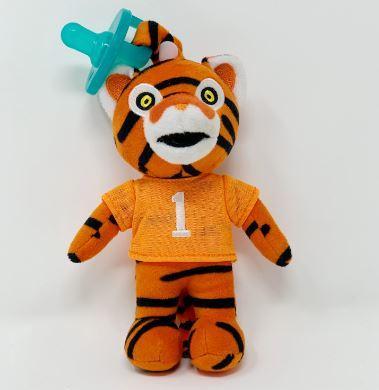 Clemson Gamezies Plush Mascot Pacifier Holder