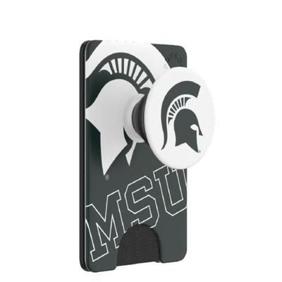 Michigan State PopSockets Spartan Logo PopWallet+