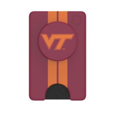 Virginia Tech PopSockets Stripe PopWallet+