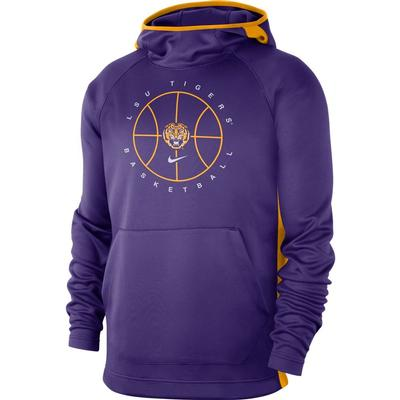 LSU Nike Men's Spotlight Basketball Hoody