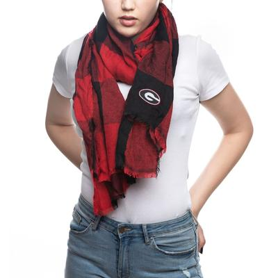 Georgia Bulldogs Buffalo Check Scarf