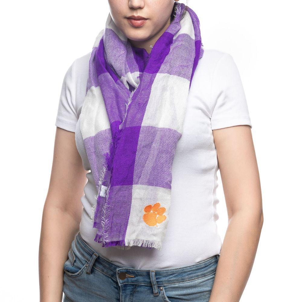 Clemson Tigers Buffalo Check Scarf