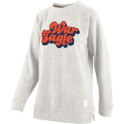 Auburn Retro Angie Chenille Comfy Terry Crew Sweatshirt