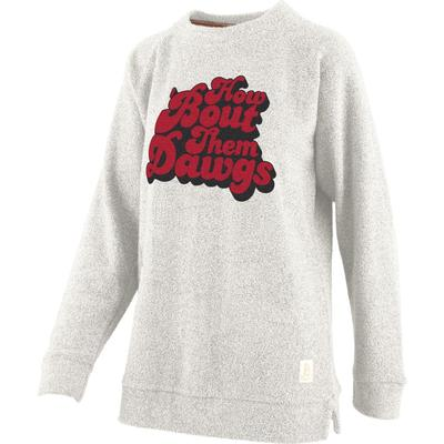 Georgia Retro Angie Chenille Comfy Terry Crew Sweater