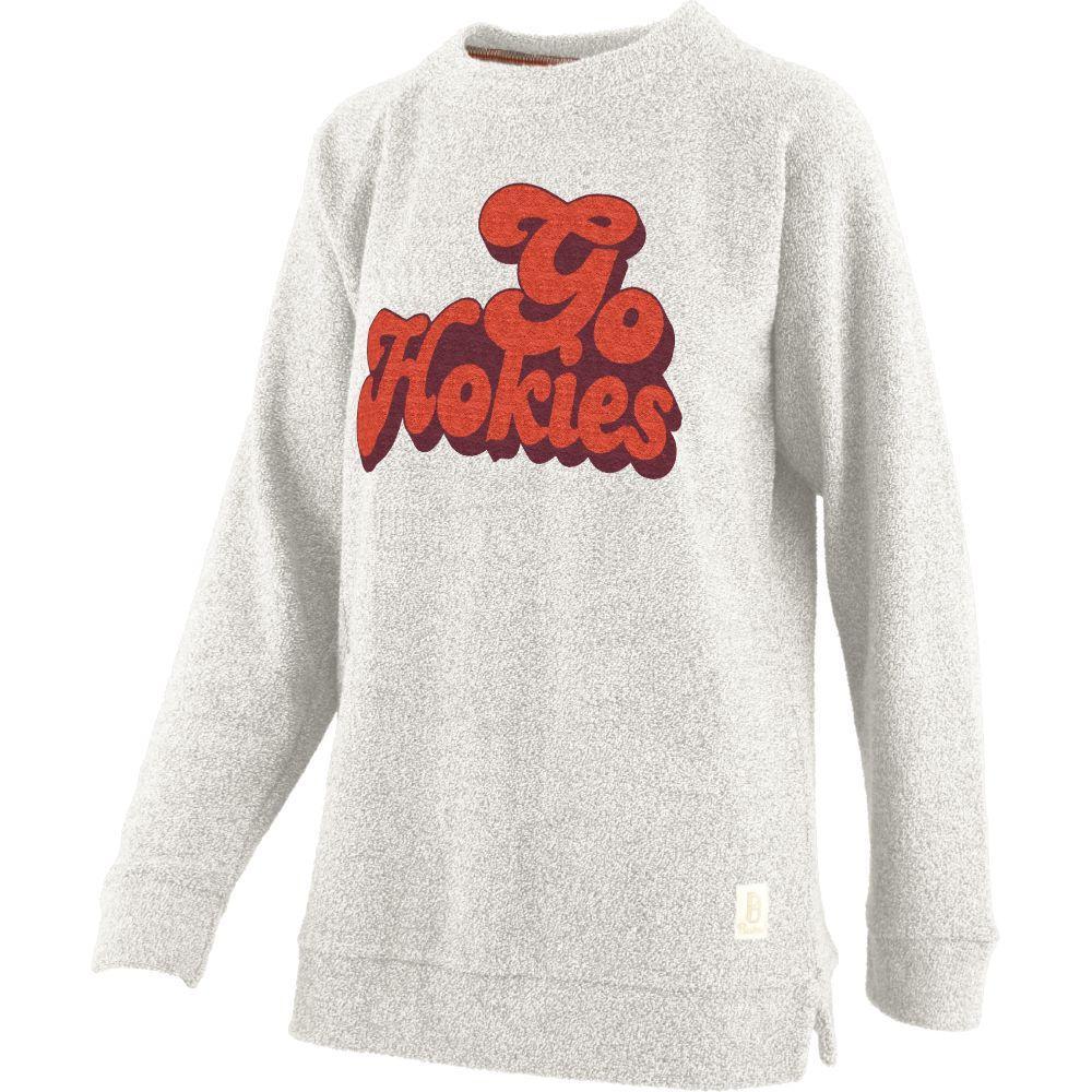 Virginia Tech Retro Angie Chenille Comfy Terry Crew Sweatshirt