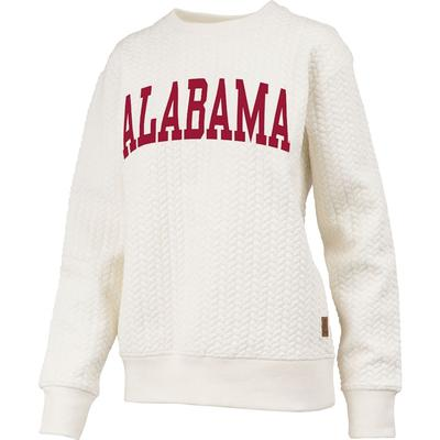 Alabama Banner Elk Cable Knit Crew Sweatshirt