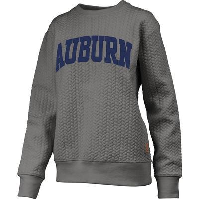Auburn Banner Elk Cable Knit Crew Sweatshirt