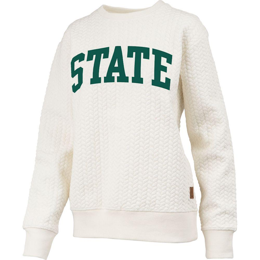 Michigan State Banner Elk Cable Knit Crew Sweater