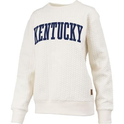 Kentucky Banner Elk Cable Knit Crew Sweater